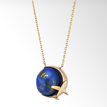 STAR JEWELRY  LAPIS AIRPLANE NECKLACE: ネックレス