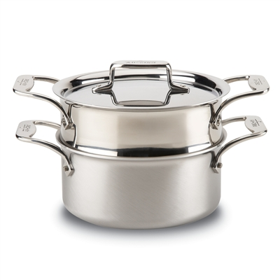 All-Clad d5 Brushed Stainless Casserole with Steamer Insert 8400000149   JL Hufford