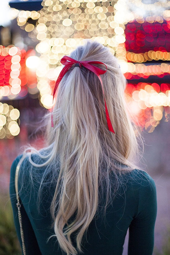 Hair Accessories / ribbons in her hair