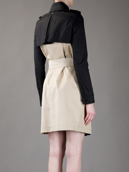 Dsquared2 Twotone Trenchcoat in Beige | Lyst