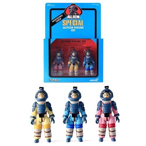 Amazon.com: Alien ReAction Nostromo Crew Figure 3-Pack - New York Comic-Con 2015 Exclusive: Toys & Games