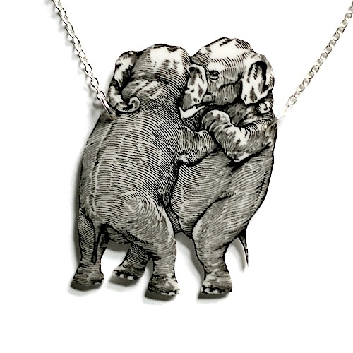 RawSpace :: Women's Gifts :: Jewellery :: Necklace - Dancing Elephants