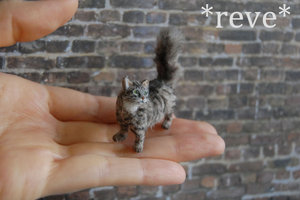 Miniature Cat Sculpture by ReveMiniatures on DeviantArt
