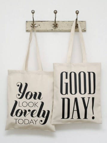 You Look Lovely | Typographic | Bags | Shop All | Alphabet Bags