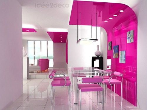 PINK / Pink dining area
