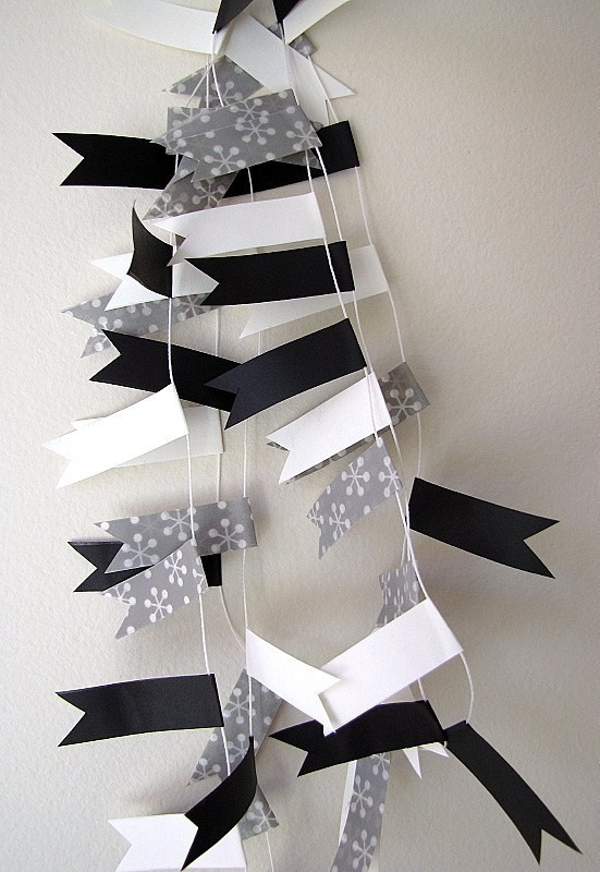 Party Bunting D – Black & White | Poppytalk Handmade