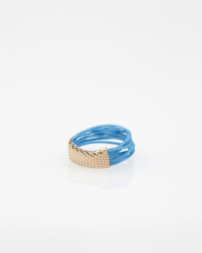 Accordion Ring In Blue