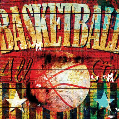 Amazon.com: Basketball by Mark Andrew Allen Fine Art Canvas 12 x 12 in Gallery Wrap Wall Decor: Home & Kitchen