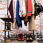 Industrial Garment Rack Triple Level by stellableudesigns on Etsy