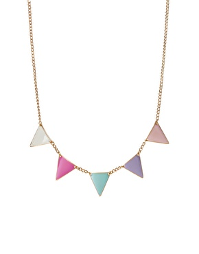 ASOS | ASOS Pastel Bunting Necklace at ASOS