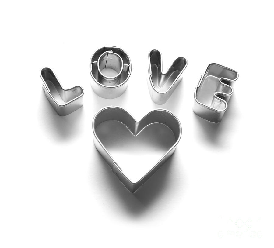 Love Message And Heart Made Of Chrome Letters Photograph by Photocreo Michal Bednarek - Love Message And Heart Made Of Chrome Letters Fine Art Prints and Posters for Sale