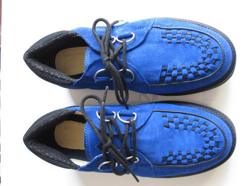 VISVIM x FRAGMENT x UNDERCOVER JAPAN - WOLFE US 9 CREEPER BLUE SUEDE