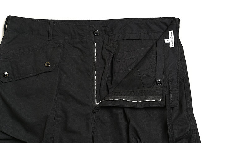 ENGINEERED GARMENTS/Norwegian Pant-Cotton Ripstop-Black