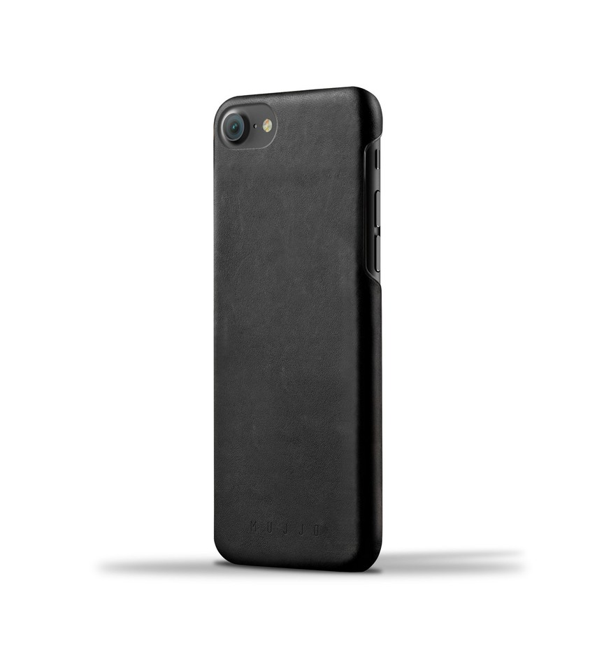 Leather Case for iPhone 7 - Black - Mujjo