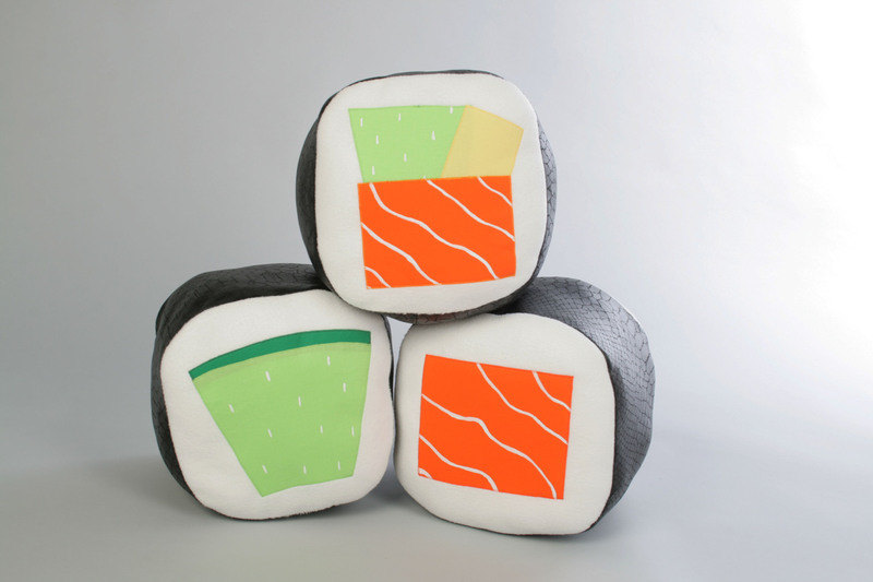 pillow sushi maki cucumber by mypillowfactory on Etsy