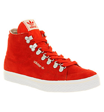 Adidas HONEY HOOK CORE ENERGY RED Shoes - Adidas Trainers - Office Shoes