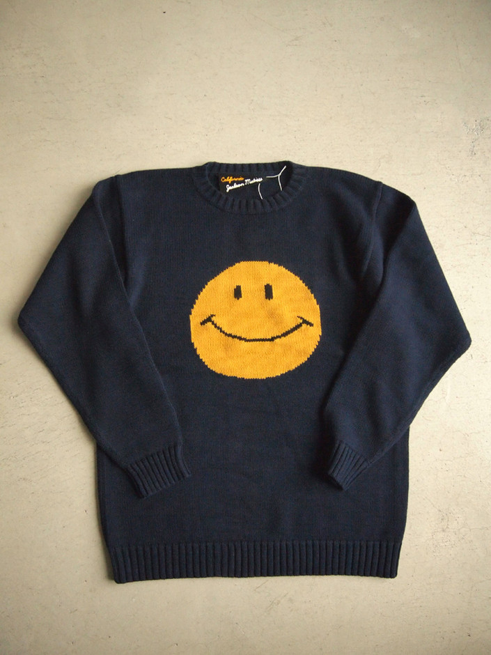 Smile Beach Sweater #Navy - cocorozashi Online Shop