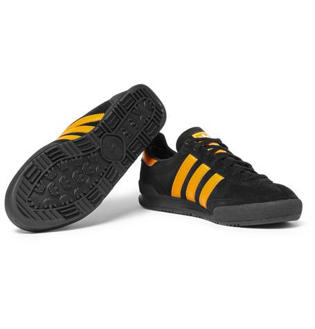 Adidas Originals - Jeans Leather-Trimmed Suede Sneakers