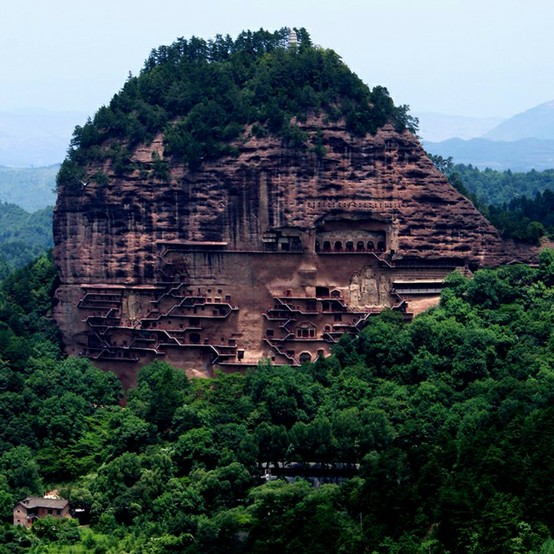 Maijishan Grottoes - Wikipedia, the free encyclopedia