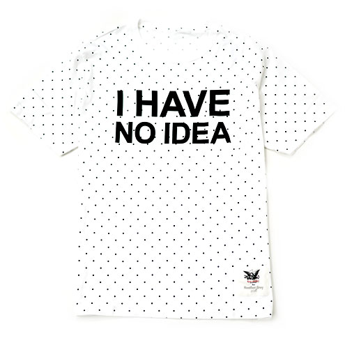 Mark Mcnairy / I HAVE NO IDEA TEE for H.G.W [WHITE] - Heather Grey Wall ONLINE store