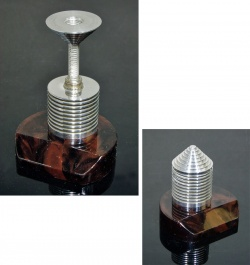 """Desk Accessories - 1940's """"Art Deco"""" Paper Weight&Postal Scale【MARBLE×ALUMINUM】 - FUNNY SUPPLY □ Antiques ■"""