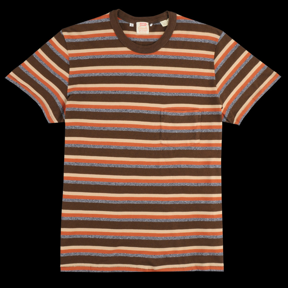 UNIONMADE - Levi's Vintage Clothing - 1960s Casual Stripe Tee in Durango Brown