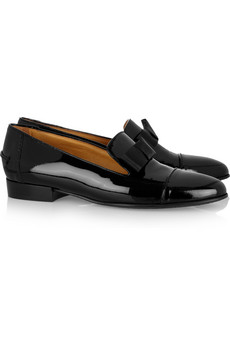 Lanvin | Bow-embellished patent-leather loafers | NET-A-PORTER.COM