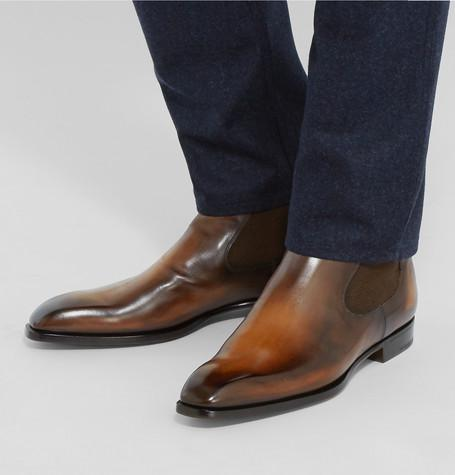 Berluti - Polished-Leather Chelsea Boots