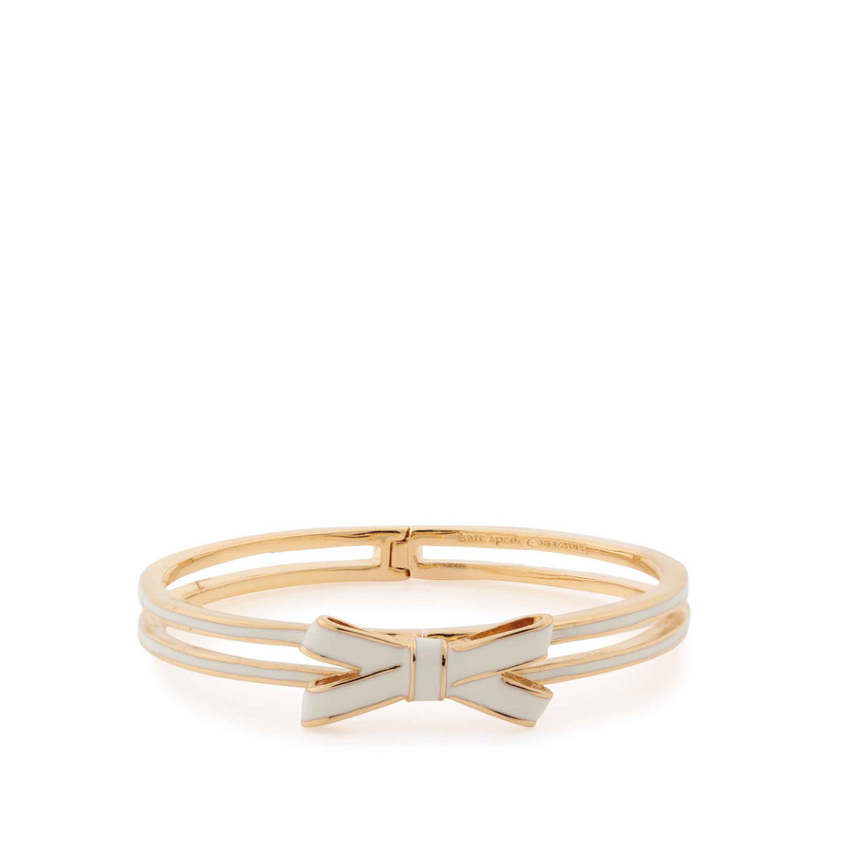 kate spade new york / double bow hinged bangle