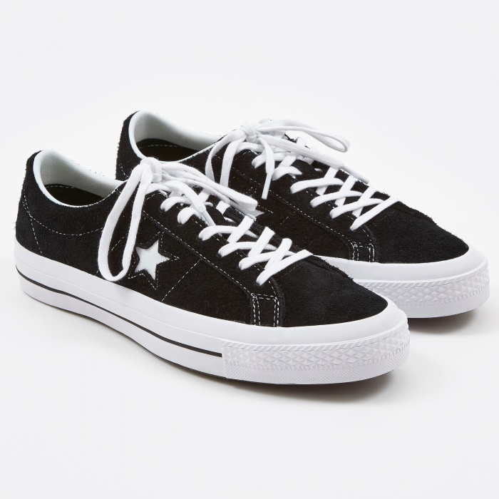 Converse : One Star Hairy Suede - Black