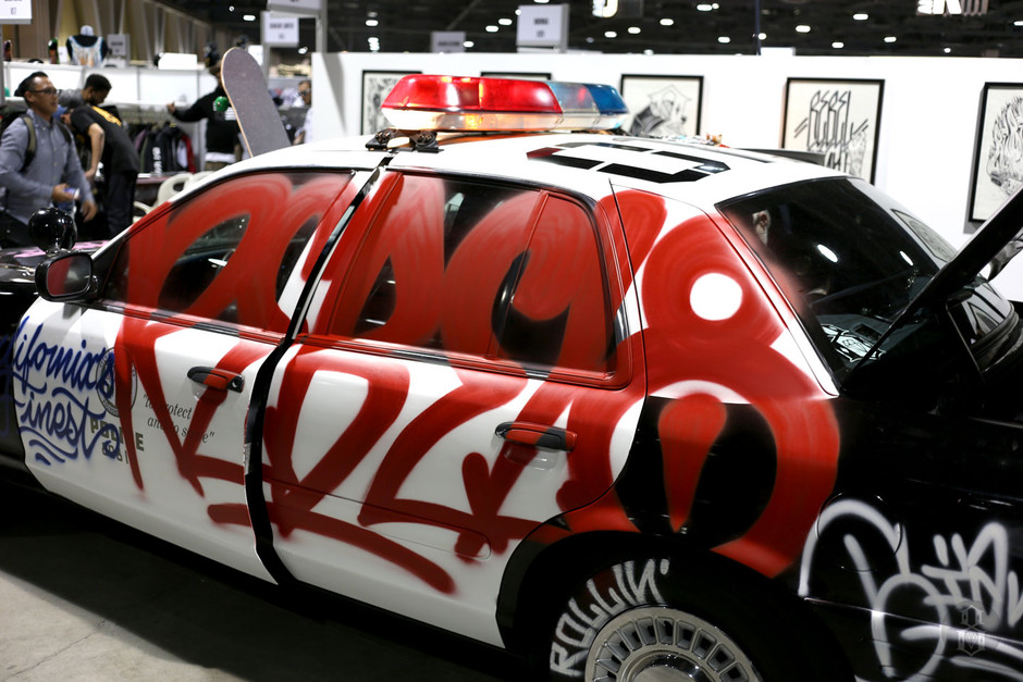 Mike Giant Paints a Cop Car for Rebel8