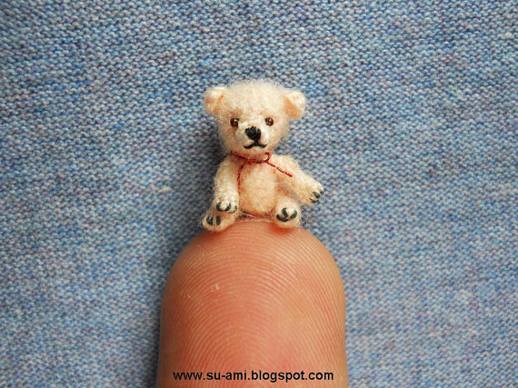 Tiniest Mohair Bear Micro Miniature Teddy Bear Tiny by suami