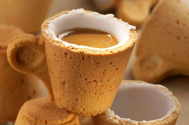 An Edible Cookie Coffee Cup