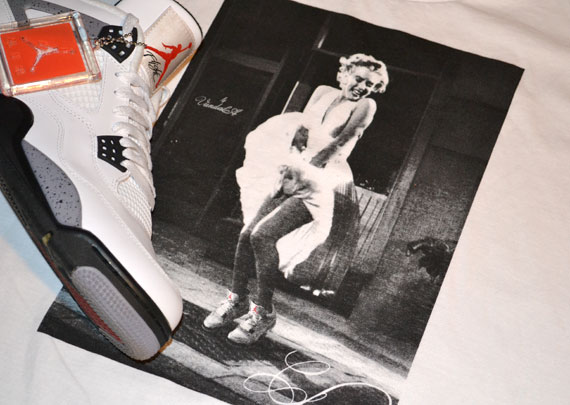 Marilyn Monroe x Air Jordan IV T-Shirt by Vandal-A | The Authority In Sneaker News