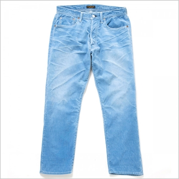 Indigo Corduroy Jeans (Cropped Legth) -Antique Washed- - Bricklayer *A vontade アボンタージ直営店
