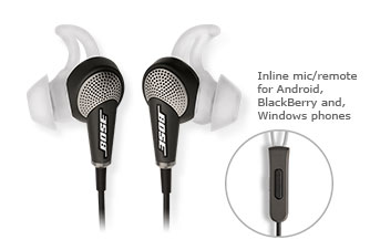 Bose | QuietComfort® 20 Acoustic Noise Cancelling® headphones | Noise Cancelling Headphones