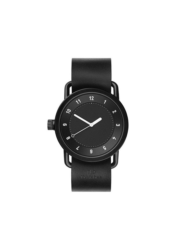 TID Watches - TID No.1 Black / Black Leather Wristband