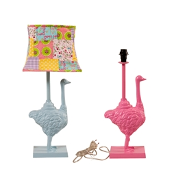 Metal Ostrich Table Lamp Assorted Colours - Rice A/S