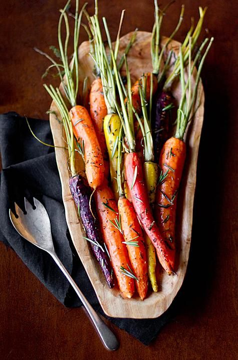 Rosemary Roasted Carrots | Food glorious Food | Pinterest