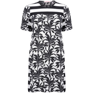 See by Chloe Women's Printed Jersey Dress - Black/White Womens Clothing - Free UK Delivery over £50