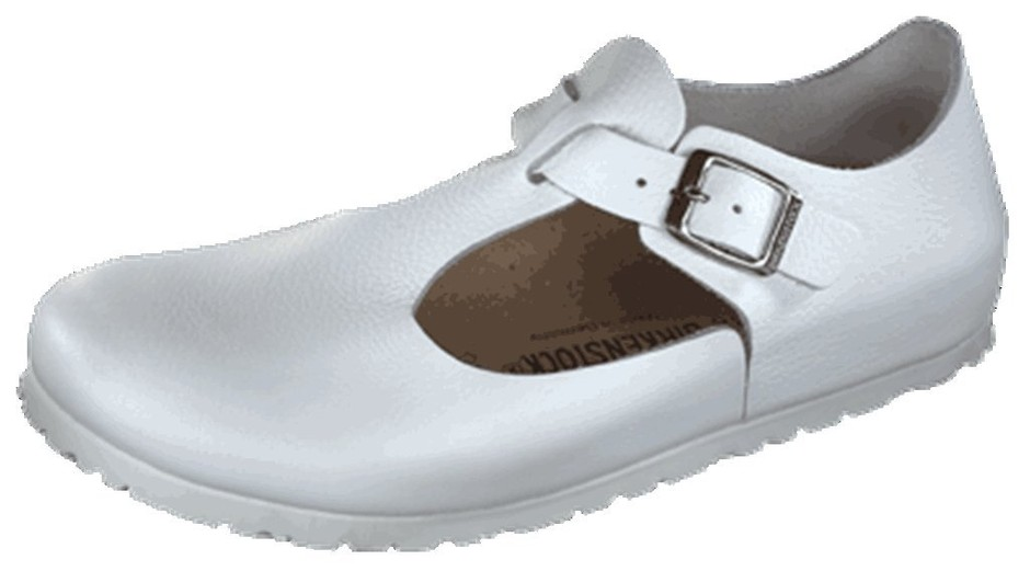 Birkenstock Shoes ''Paris'' from Leather in White 36.0 EU N