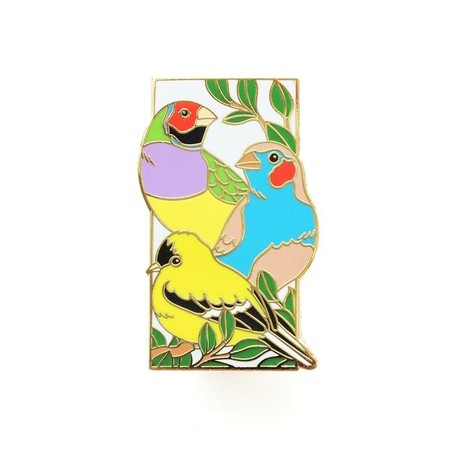 Finches Enamel Pin