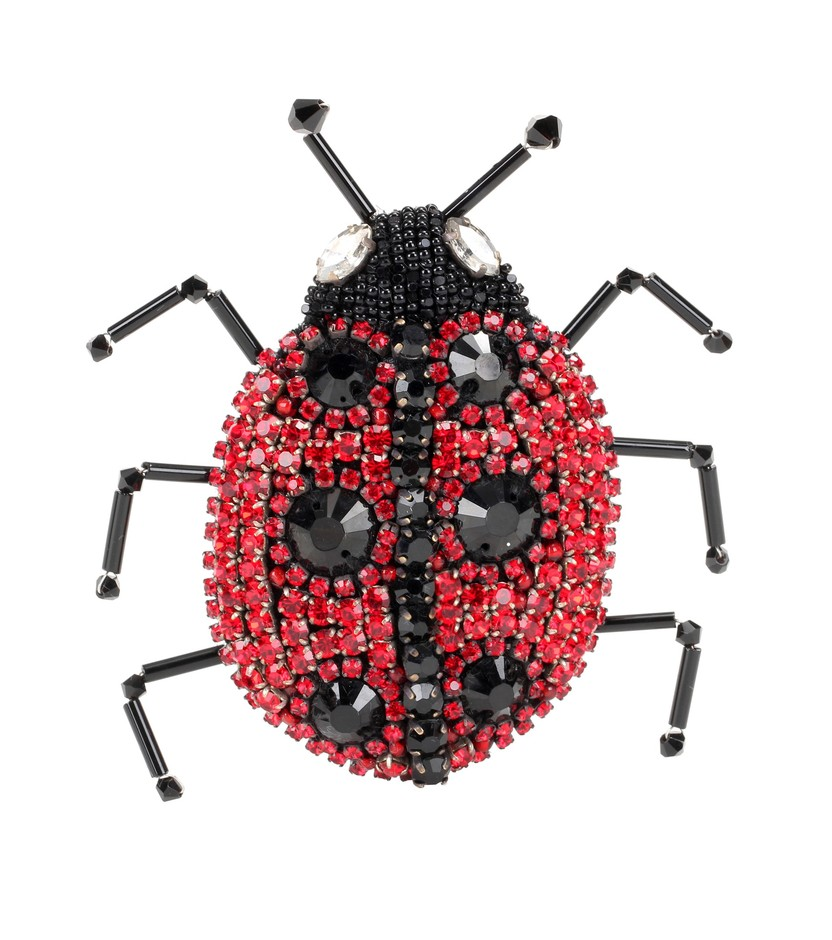 mytheresa.com - Crystal-embellished ladybird brooch - Luxury Fashion for Women / Designer clothing, shoes, bags