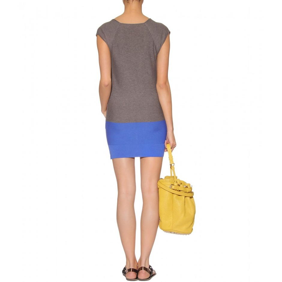 mytheresa.com - T by Alexander Wang - TWO-TONE KNIT DRESS - Luxury Fashion for Women / Designer clothing, shoes, bags