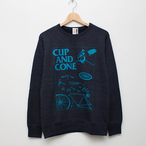 Wasted Heather Sweat - Navy - cup and cone WEB STORE