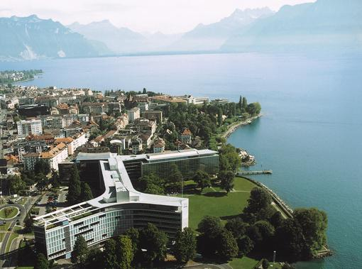 Vevey - Vevey with the Nestlé headquarters in the foreground - Freebase