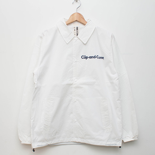 Ice Cream Coaches Jacket - White - cup and cone WEB STORE