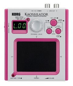Discontinued Korg Kaossilator Mini Phrase Synthesizer, Pink at Gear4Music.com