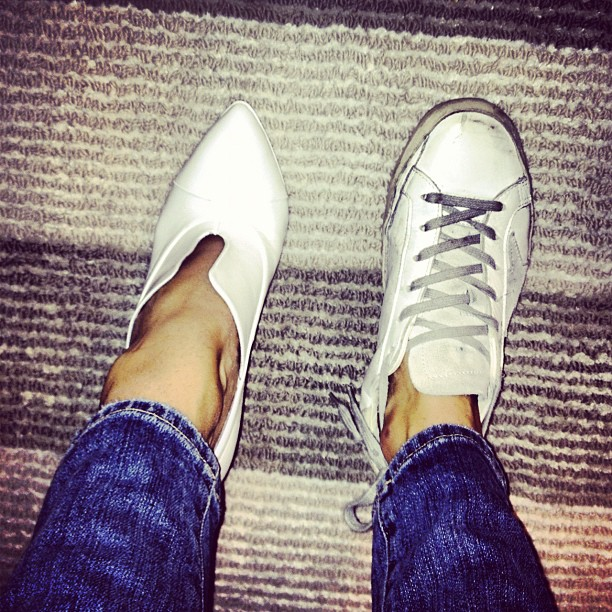 White shoes FTW. | Man Repeller