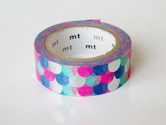 mt Washi Masking Tape Metallic Fish Scales by craftyjapan